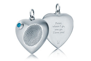 Fingerprint Urn Pendants by Legacy Touch Keepsakes in sterling silver